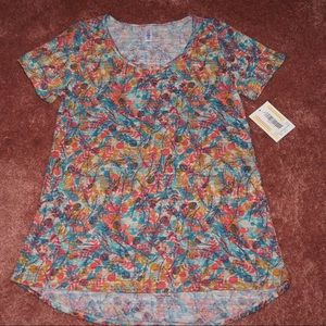 Floral Classic-T in pink orange blue